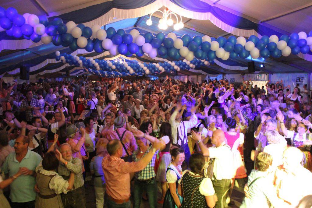 Oktoberfest-Zelt in Lemgo / Ostwestfalen